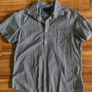 Banana Republic check print button down shirt